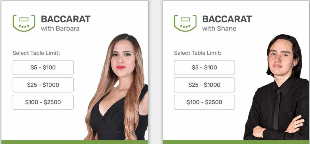baccarat table limits